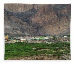 Boquillas Mexico Fleece Blanket