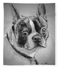 Boston Bull Terrier Fleece Blanket