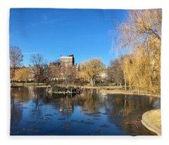 Boston Common In Winter Fleece Blanket