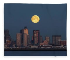 Boston Moonset Fleece Blanket