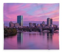 Boston Sunset Fleece Blanket