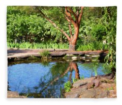 Botanical Garden - Reflecting Growth - By Omaste Witkowski Fleece Blanket
