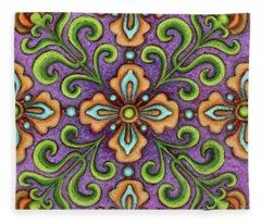 Botanical Mandala 10 Fleece Blanket