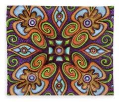 Botanical Mandala 11 Fleece Blanket