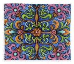 Botanical Mandala 2 Fleece Blanket