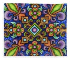 Botanical Mandala 3 Fleece Blanket