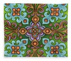 Botanical Mandala 4 Fleece Blanket