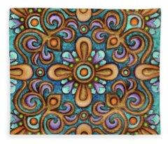 Botanical Mandala 7 Fleece Blanket
