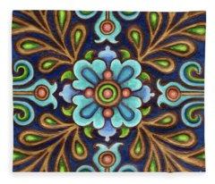 Botanical Mandala 9 Fleece Blanket