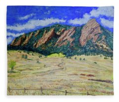 Flatirons Boulder Colorado Fleece Blanket