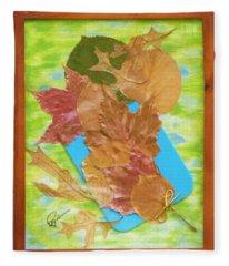 Bouquet From Fallen Leaves Fleece Blanket