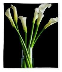 Bouquet Of Calla Lilies Fleece Blanket