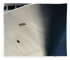 Bow Of Mega Yacht Fleece Blanket