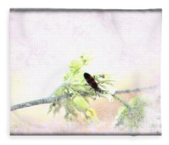 Boxelder Bug In Morning Haze Fleece Blanket