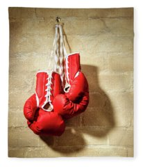 Boxing Gloves Fleece Blanket