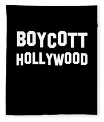 Boycott Hollywood Fleece Blanket