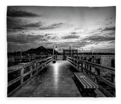 Bradenton Beach City Pier Fleece Blanket