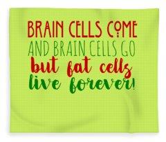 Brain Cells Fleece Blanket