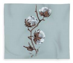 Branch Of Fluffy Cotton Fleece Blanket