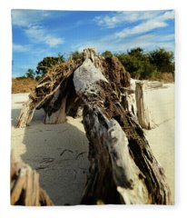 Branch On Beach Fleece Blanket