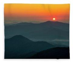 Brasstown Bald Sunrise Fleece Blanket