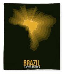 Brazil Radiant Map 1 Fleece Blanket