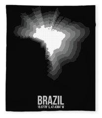 Brazil Radiant Map 4 Fleece Blanket