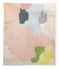 Fleece Blanket featuring the painting Brdr01 by Cortney Herron