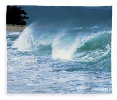 Breaking Wave North Shore Fleece Blanket