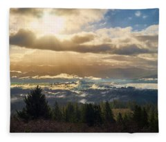 Fleece Blanket featuring the photograph Breakthrough by Whitney Goodey