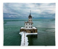 Breakwater Lighthouse Fleece Blanket