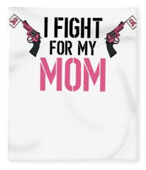 Breast Cancer Awareness Art For Warrior Women Light Fleece Blanket