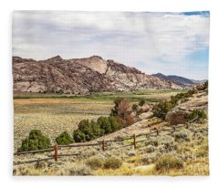Breathtaking Wyoming Scenery Fleece Blanket