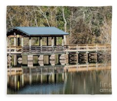 Brick Pond Park - North Augusta Sc Fleece Blanket