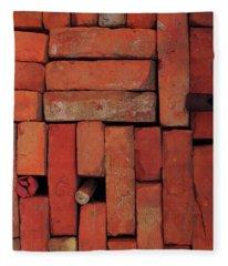Bricks Fleece Blanket