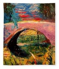 Bridge At City Park Fleece Blanket