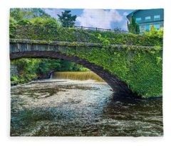Bridge Of Flowers Fleece Blanket