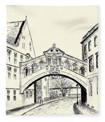 Bridge Of Sighs Fleece Blanket