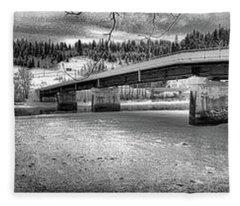 Bridge Over Frozen Waters Fleece Blanket