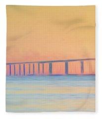 Bridge Panel 30 Wide, 29 High Fleece Blanket