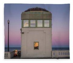 Fleece Blanket featuring the photograph Bridge Tender's Tower by Steve Stanger