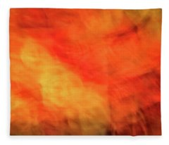 Bright Artistic Fire Like Background Of Red, Orange And Yellow Textures Fleece Blanket