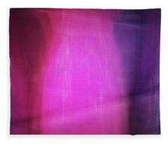 Bright Blurred Abstract Color Streaks Of Pink And Purple Fleece Blanket