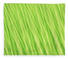 Bright Chartreuse Green Blurred Diagonal Lines Abstract Fleece Blanket
