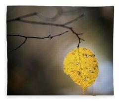 Bright Fall Leaf 7 Fleece Blanket