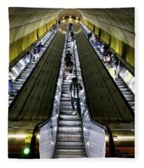 Bright Lights, Tall Escalators Fleece Blanket