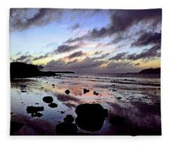 Bright Mirror Of Sunset Light Fleece Blanket