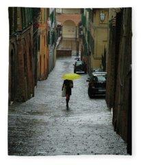 Bright Spot In The Rain Fleece Blanket