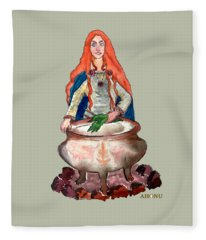 Brigid Of The Gaels Fleece Blanket