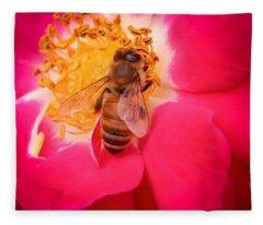 Brilliant Bee Fleece Blanket
